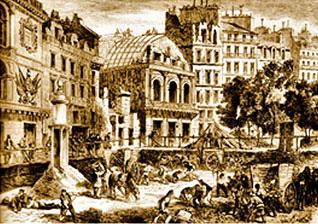 Démolition du boulevard du Temple