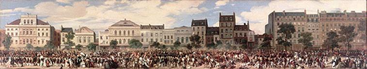 Attentat de Fieschi commis contre le Roi  Louis-Philippe le 28 juillet 1835